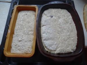 Wyrośnięty chlebek po ok. 1.5h